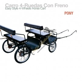 Carro 4-Ruedas Con Freno Pony