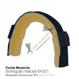 Funda Para Muserola Borreguillo Natural 64351
